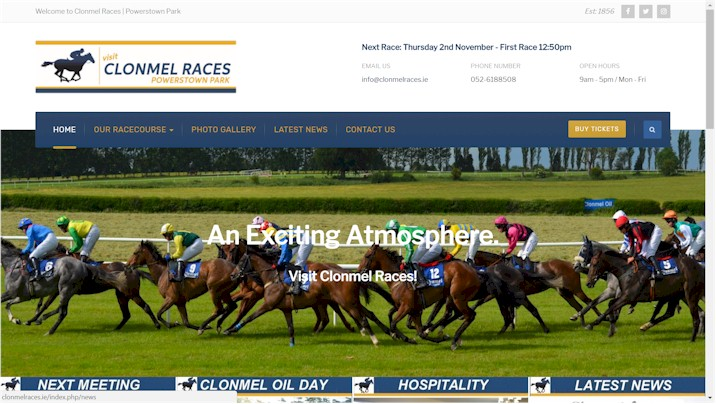 Clonmel Races website